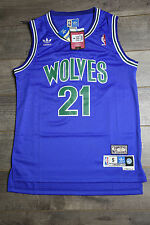 Kevin Garnet #21 Minnesota Timberwolves Jersey Green Blue Swingman Basketball