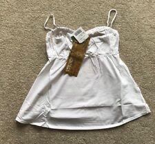 LADIES' COLCCI TOP. WHITE. COTTON. Size M. RRP £50.