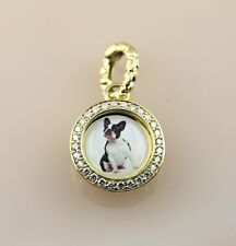 Hellmuth Diamonds Boston Terrier Pendant in 14K Yellow Gold size 17mm