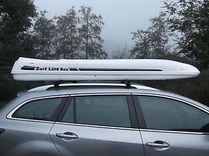 Premium Dachbox Malibu SL WEISSS von Mobila stabile Dachbox und Surfbox