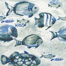 4x Paper Napkins for Decoupage - Aquaworld fish