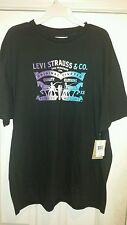 Men's Levi's Cotton T-Shirts black white purple blue size large