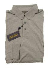 Polo Golf Ralph Lauren Men's Grey Heather Wool Silk Cashmere Blend Polo Shirt