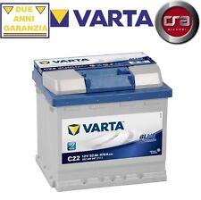 BATTERIA AUTO VARTA 52AH 470A C22 FIAT 500 (312) 0.9 59KW DAL 12.13