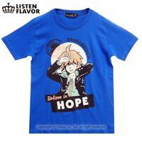 LISTEN FLAVOR - DANGAN RONPA Makoto Naegi's T-shirt (harajuku kawaii anime game)