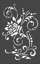 1- 5x8 inch Custom Stencil, (AE-34) Rose Design, Free Shipping