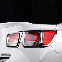 ABS Chrome Rear Tail Light Lamp Cover Trim 4pcs For Chevrolet Malibu 2013 - 2015