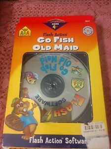NEW Flash Action Go Fish & Old Maid