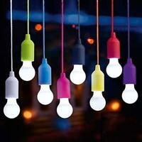 Bulb LED Light Portable Real Colors Lamp Rope Click Pull Hot Cord Bulb W5Q9