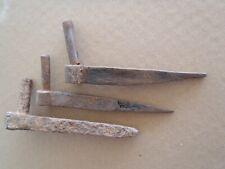 ANTIQUE WROUGHT IRON BARN STRAP HINGE PINS ~ 3 PINTLES