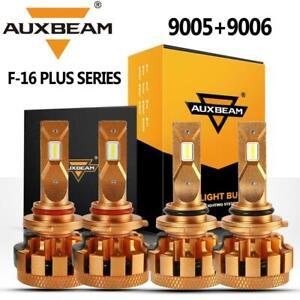 AUXBEAM F16 Plus 9005 & 9006 LED Headlight 7000LM Chevy Silverado Tahoe