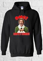 The Elf Omg Santa is Coming Will Ferrell Men Women Unisex Sweatshirt Hoodie 2335