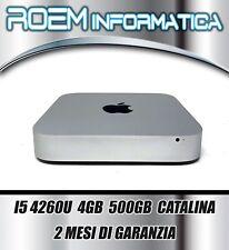 MAC MINI LATE 2014 I5 4260U 4GB 500GB CATALINA GRADO A 2 MESI DI GARANZIA