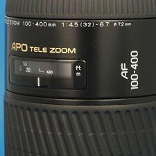 MINOLTA AF ZOOM  100-400mm  1:4,5 (32) - 6,7 APO  fast wie NEU - near MINT cond.