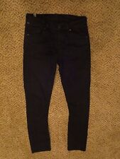 Citizens of Humanity straight leg dark indigo denim jeans 26 altered waist COH