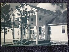 1944 The Red Cross Building at Camp Livingston, La Louisiana PC