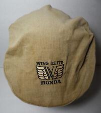 Vtg 1980s HONDA WING ELITE ADVERTISING Corduroy Cabbie Golf Flat Snapback Cap