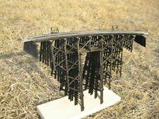 "HO scale Model Railway Wood trestle Bridge 15"" long 8.75"" high with Pass Through"