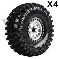 "2.2"" Beadlock Rim Tyre Wheel for 1/10 RC Axial SCX10 RR10 Wraith 90048 AX10 KM2"