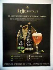 PUBLICITE-ADVERTISING :  LEFFE Royale  2016 Bières,Alcool