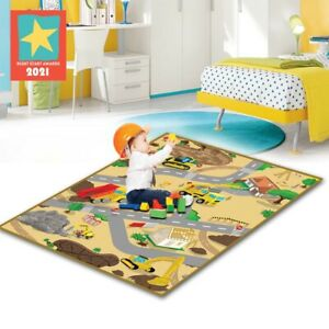 Eduk8 Construction Play Mat - Kids Children's Educational Floor Gym (120x100cm)