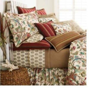 Lauren Ralph Lauren Antigua Paisley Floral 100% Cotton KING Sheet Set 4pc
