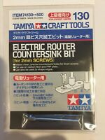 Tamiya Craft Tool 74130 No.130 2mm Electric router countersink bit for 2mm screw