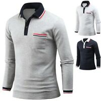 New Men Dandy Golden Bee Long Sleeve T-Shirts Polo PK Casual Collar Top E16 XS-M
