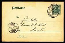 624181) DR Germania Blg. mit Bahnpoststpl. Herford - Alteneken 1903
