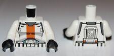 Lego Star Wars White Torso SW Armor Republic Trooper with Orange Stripe Pattern