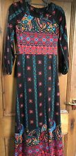 Betty Barclay Vintage 70's Maxi Folk Dress, Hippy