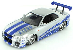 Brian's Nissan Skyline GTR R34 2 Fast 2 Furious 1:24 (Jada 97158)