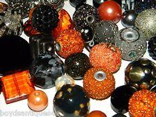 NEW 25 Jesse James Beads Orange, Peach, Black, Gray MIX Colored LOT RANDOMLY