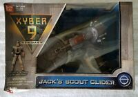 """XYBER 9 NEW DAWN JACK'S SCOUT GLIDER WITH EXCLUSIVE JACK 4"""" FIGURE BANDAI 1999"""