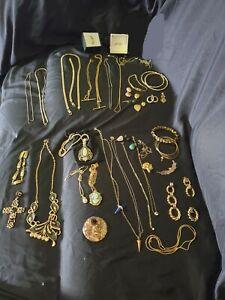 Deceased estate bulk vintage genuine and costume gold lot