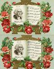 Vintage set of 6 postcards George Washington with his signature