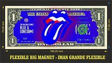 Rolling Stones Blue IMAN BILLETE 1 DOLLAR BILL MAGNET