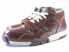 DS NIKE 2003 AIR TRAINER 1 BROWN PREMIUM LEATHER 9.5 MAX DUNK 90 1 180 FORCE 95