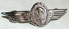 German Germany Army Airborne Jump Parachutist  Full Size Silver Metal Wing Badge