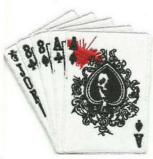 Joker Boat Full House Card Gambling Punk Embroidered Iron on Patch
