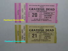 2 GRATEFUL DEAD Concert Ticket Stub Lot 1983 STANFORD FROST THEATRE Jerry Garcia