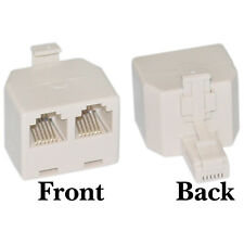 Phone Splitter (Straight), Rj11/Rj12 6P6C Male to 2X 6P6C Female Wc-Pa-6P6C-St