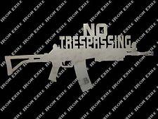 AK47 No Trespassing Metal Wall Art Sign Plasma Cut AK 47 Rifle Gun Keep Out