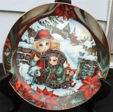 Vintage 1990 Reco Jody Bergsma Christmas Series Down The Glistering Décor Plate