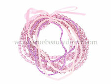 FASHION ACCESSORIES 10 BRACELETS BEADS PINK & PURPLE MIX MORE BARGAINS IN SHOP