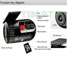 Car Dash Cam No Screen Mini DVR Video Recorder HD Camera Night Vision Camcorder