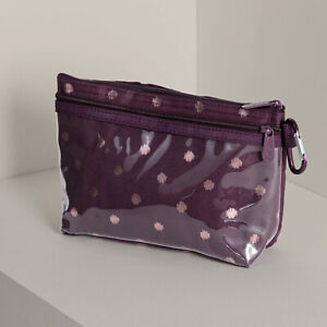 Thirty-one 31 Clear Clip Pouch Retired Twinkling Plum New/Unused