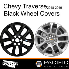 "2018-2019 Chevrolet Traverse 18"" Black Wheel Skins / Hubcaps # 8018G-B NEW SET"