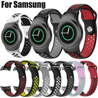 Silicone Wrist Watch Band Strap For Samsung Gear S2 SM-R720 / SM-R730 + Adapter