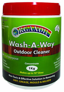 Deck Wash Timber cleaner Organoil WASH A WAY 1KG Outdoor NON TOXIC Concentrate